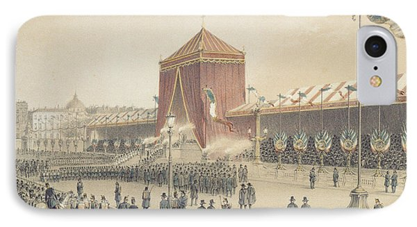 Proclamation Of The Republic, 12th November 1848 Coloured Engraving IPhone Case by Jules Gaildrau