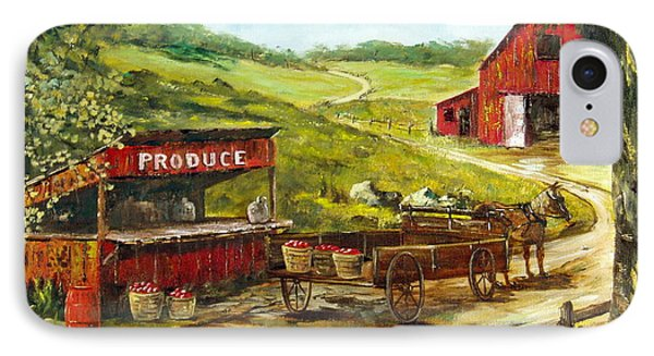 IPhone Case featuring the painting Produce Stand by Lee Piper