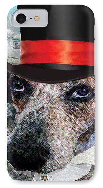 Professor Poses At The Derby IPhone Case by Michele Avanti