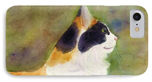 Profile Of A Cat IPhone Case by Ann Michelle Swadener