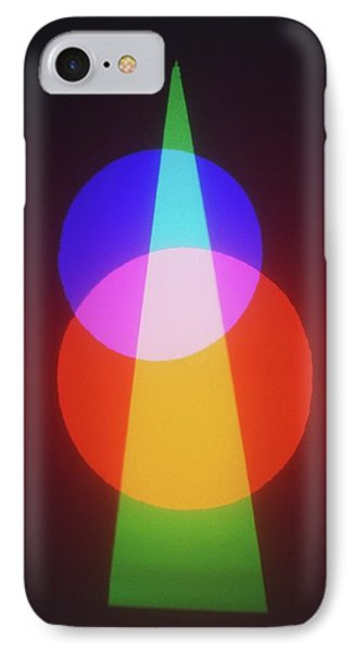 Projection Of Three Primary Colours IPhone Case by Dorling Kindersley/uig