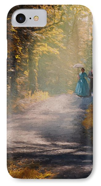Promenade D'antan IPhone Case by Jean-Pierre Ducondi