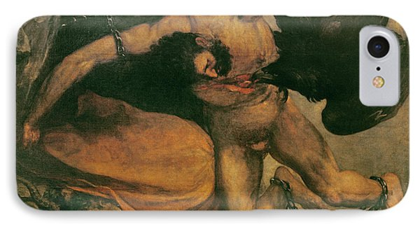 Prometheus Oil On Canvas IPhone Case by Francisco Jose de Goya y Lucientes