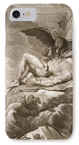Punishment iPhone 7 Case - Prometheus Tortured By A Vulture, 1731 by Bernard Picart