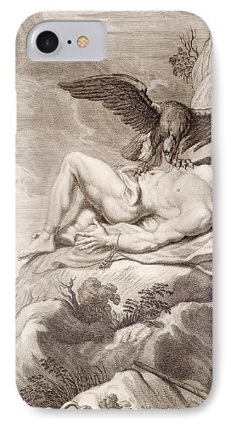 Prometheus Tortured By A Vulture IPhone Case by Bernard Picart
