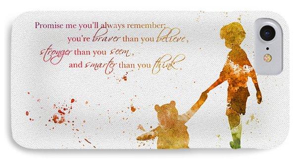 Promise Me You'll Always Remember IPhone Case by Rebecca Jenkins