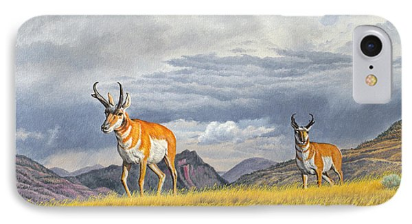 Pronghorn-coming Over The Rise IPhone Case