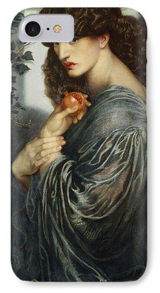 Proserpine Phone Case by Dante Charles Gabriel Rossetti