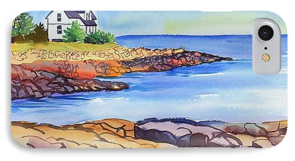 Prospect Harbor Lighthouse Me IPhone Case by Yolanda Koh