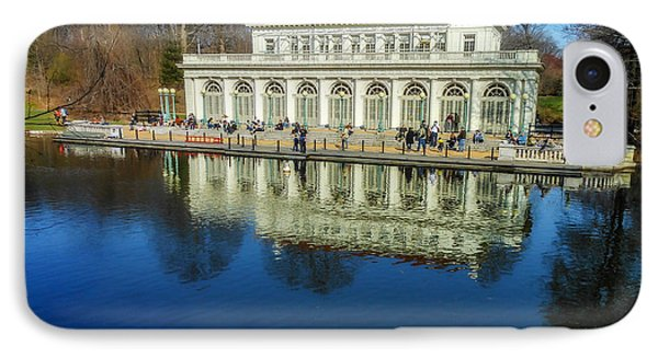 Prospect Park Boathouse IPhone Case by Jon Woodhams