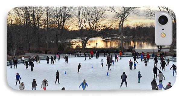 Prospect Park Skating Rink At Sunset IPhone Case by Diane Lent