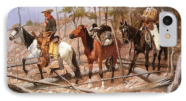 Prospecting For Cattle Range Phone Case by Frederic Remington