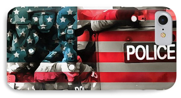 Protect And Serve IPhone Case by Dan Sproul