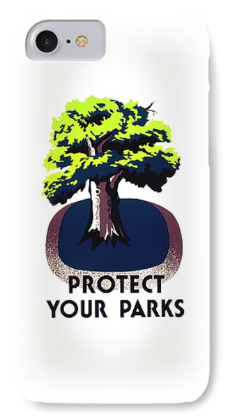 Protect Your Parks Wpa IPhone Case by War Is Hell Store
