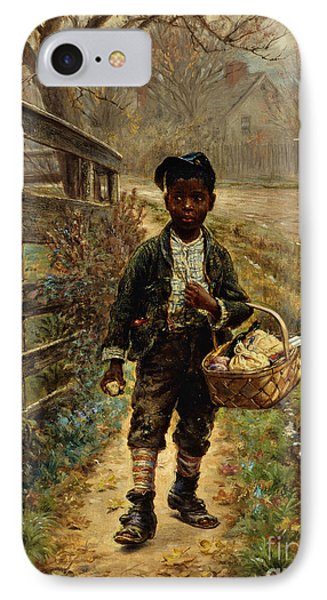 Protecting The Groceries Phone Case by Edward Lamson Henry