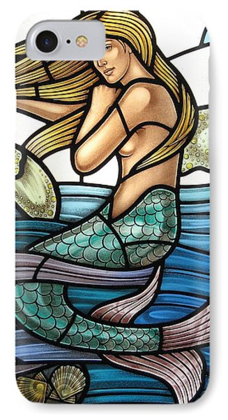 Protection Island Mermaid IPhone Case by Gilroy Stained Glass