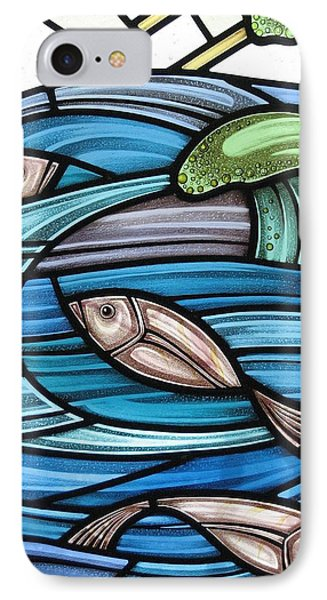 Protection Island Seascape IPhone Case by Gilroy Stained Glass