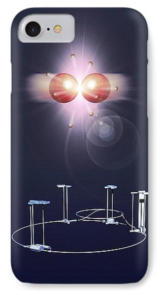 Proton Collision And The Lhc IPhone Case by Mikkel Juul Jensen
