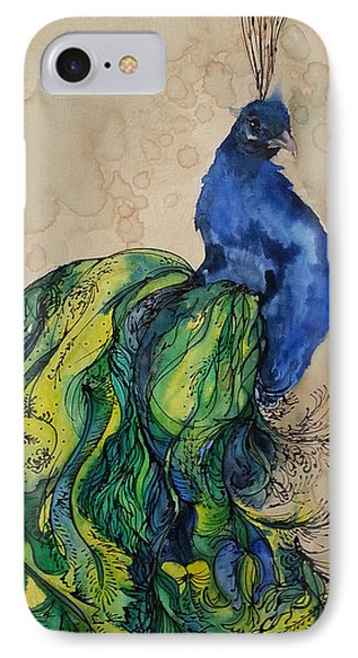Proud Peacock Blue IPhone Case by Christy  Freeman