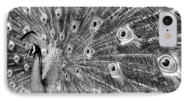 Proud Peacock Phone Case by Sean Davey