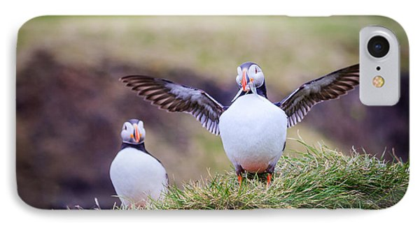 Proud Puffin IPhone Case by Peta Thames