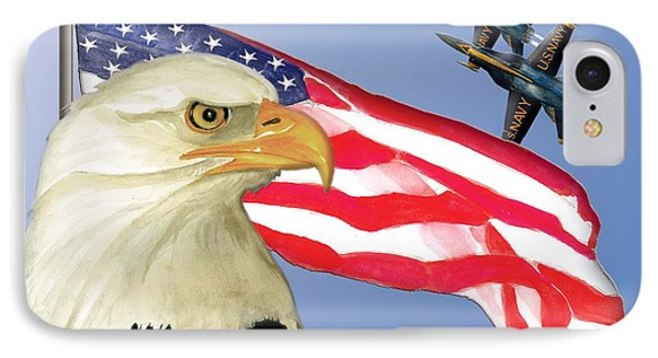 Proud To Be An American IPhone Case by Anne Beverley-Stamps