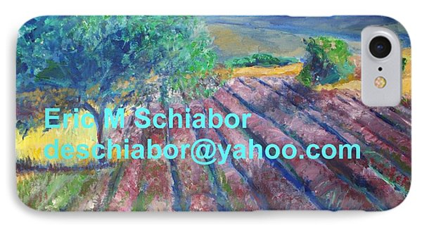 Provence Lavender Field IPhone Case by Eric  Schiabor