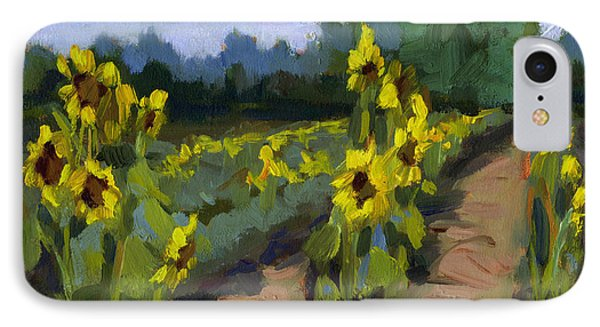 Provence Sunflower Field IPhone Case by Diane McClary
