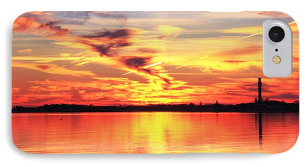 IPhone Case featuring the photograph Provincetown Harbor Sunset by Roupen  Baker