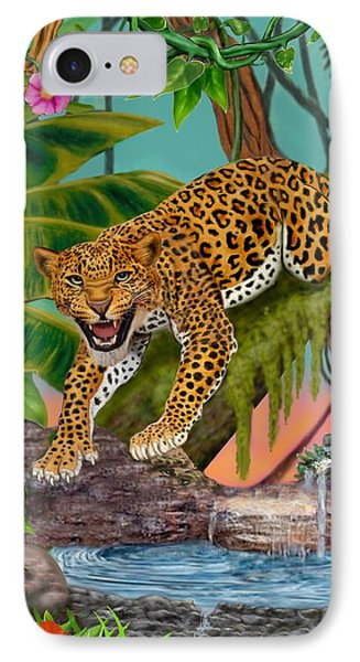 Prowling Leopard IPhone Case by Glenn Holbrook