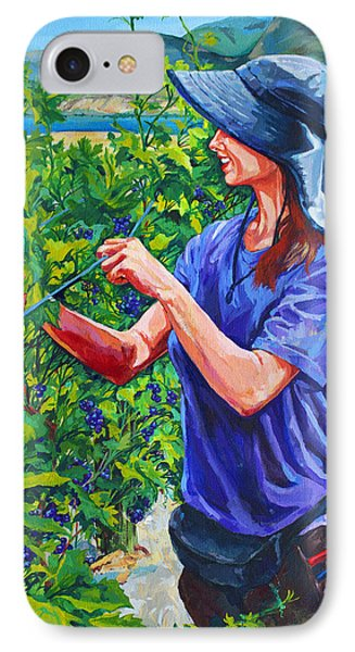 Pruning The Pinot Phone Case by Derrick Higgins