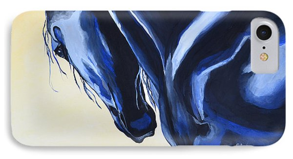 IPhone Case featuring the painting Prussian Night by Suzette Kallen