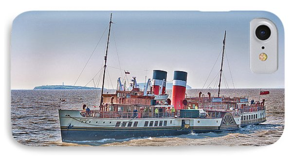 Ps Waverley Approaching Penarth Phone Case by Steve Purnell