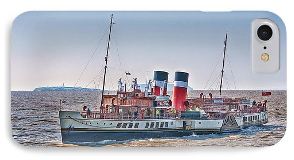 Ps Waverley Approaching Penarth IPhone Case by Steve Purnell