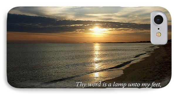 Psalm 119-105 Your Word Is A Lamp Phone Case by Susan Savad