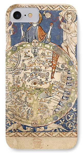 Psalter World Mappa Mundi IPhone Case by British Library