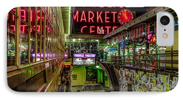 Psychadelic Midnight Colors At Pike Place Market Phone Case by Brian Xavier