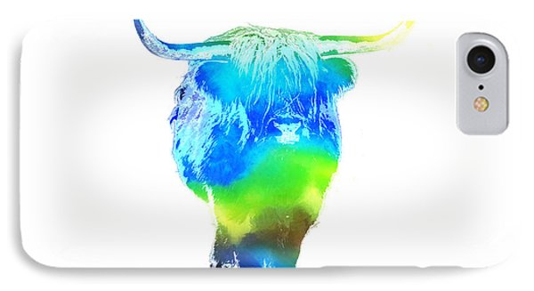 Psychedelic Bovine #2 Phone Case by Pixel  Chimp