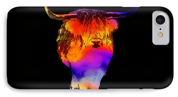 Psychedelic Bovine IPhone Case by Pixel Chimp