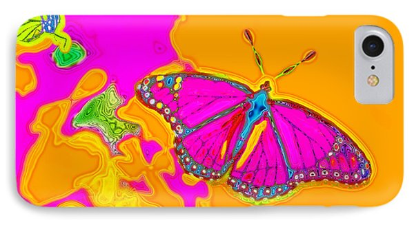 Psychedelic Butterflies IPhone Case by Marianne Campolongo