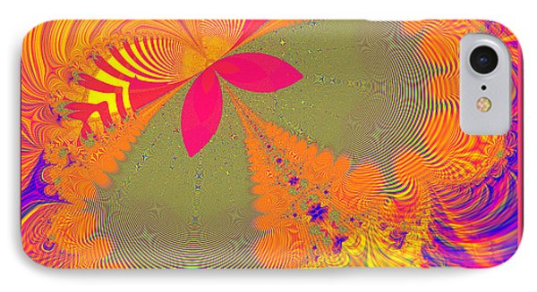 Psychedelic Butterfly Explosion Fractal 61 Phone Case by Rose Santuci-Sofranko