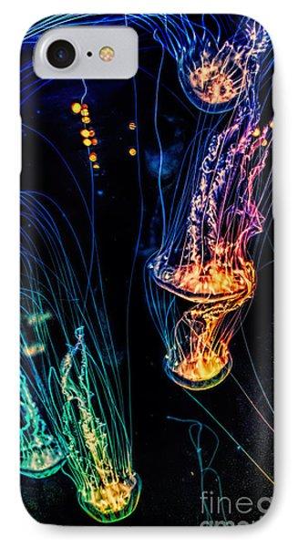Psychedelic Cnidaria IPhone Case by Olga Hamilton