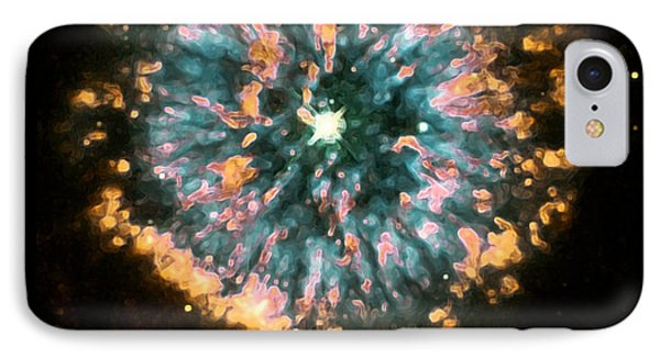 Psychedelic Dandelion  IPhone Case by Jennifer Rondinelli Reilly - Fine Art Photography