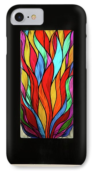 Psychedelic Flames Phone Case by Rick Roth