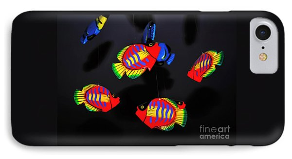 Psychedelic Flying Fish Phone Case by Kaye Menner