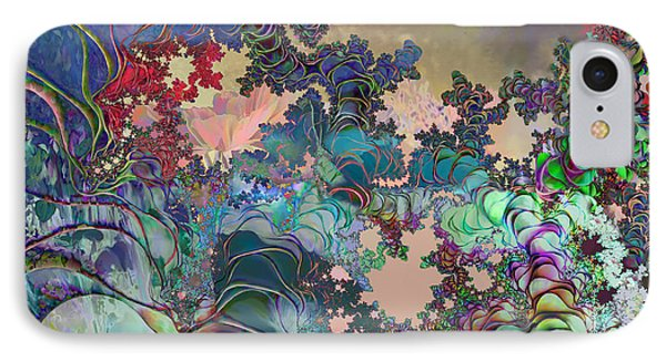 IPhone Case featuring the digital art Psychedelic Garden by Ursula Freer