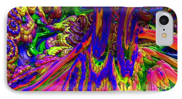IPhone Case featuring the digital art Psychedelic Pastries by Arlene Sundby