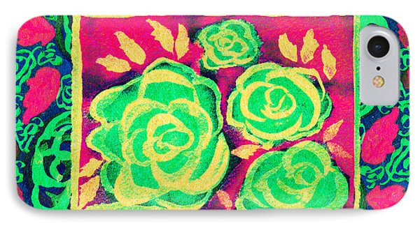 Psychedelic Roses - Spring IPhone Case by Beverly Claire Kaiya