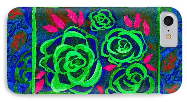 Psychedelic Roses - Winter IPhone Case by Beverly Claire Kaiya