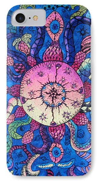 Psychedelic Squid IPhone Case by Megan Walsh